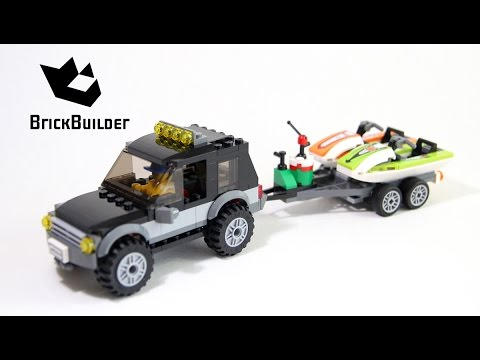 Lego City 60058 SUV with Watercraft build and review