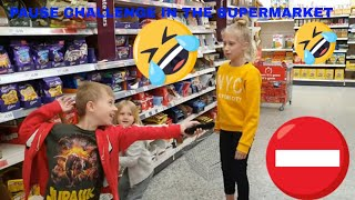 PAUSE CHALLENGE IN THE SUPERMARKET  @Adventures and Toys