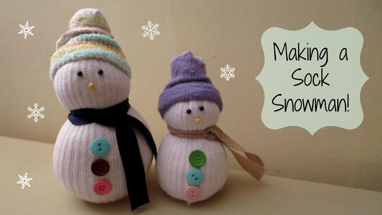 Making A Sock Snowman Cute Winter Craft Maymommy2011