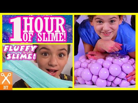 1 HOUR OF SLIME DIYS! GIANT MESH SLIME STRESS BALL & MORE!     KITTIESMAMA