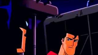Superman Peeks Under Batman