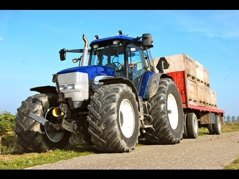 New Holland TM 190 Blue Power with Straight pipe, Pure Sound!
