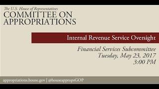 Hearing: IRS Oversight (EventID=105897)