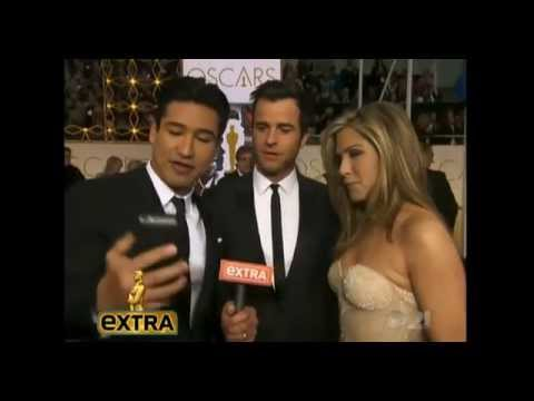 Jennifer Aniston and Justin Theroux on Extra