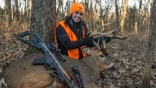 Woman Kills Giant First Ever Crossbow Buck!
