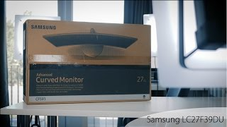 Samsung monitor LC27F591 Overview/Unboxing
