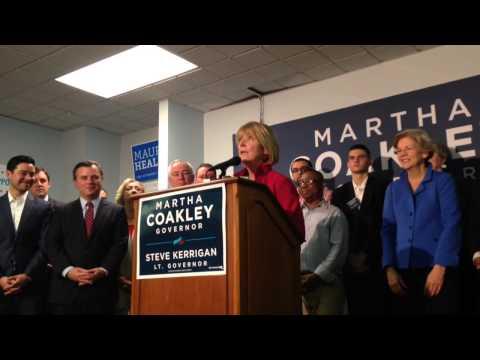 Martha Coakley reflects on women in politics in concession speech