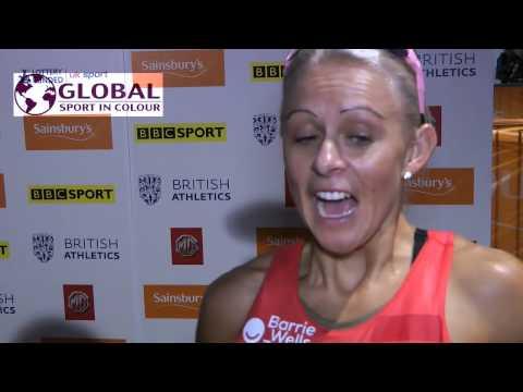 Jenny Meadows post event interview - British Indoor Grand Prix 2015