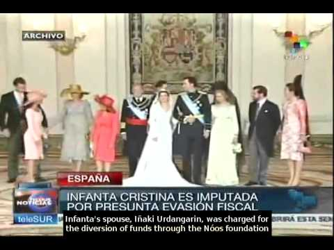 Infanta Cristina charged for money laundering and tax fraud