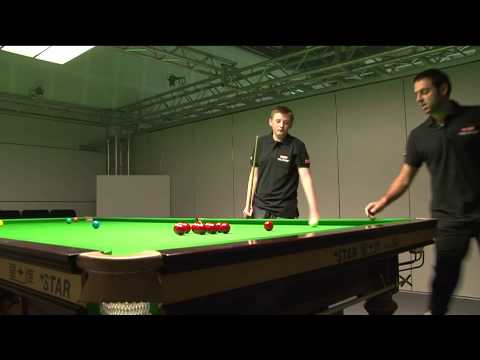 Rileys Future Stars of Snooker champion trains with Ronnie O'Sullivan