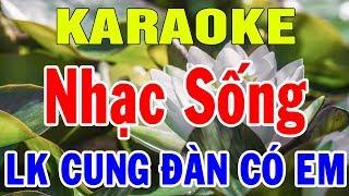 Karaoke Nhạc Vàng Trữ Tình Hòa Tấu Bolero   Nhạc Sống karaoke Lk Rumba Cung Đàn Có Em   Trọng Hiếu