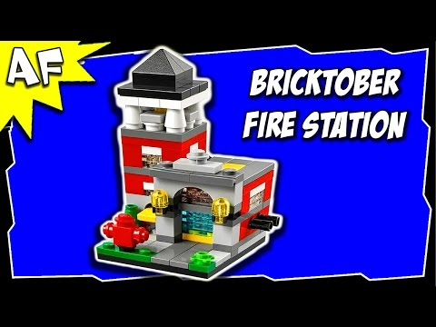 Lego City Bricktober FIRE STATION 40182 Mini Modular Stop Motion Build Review