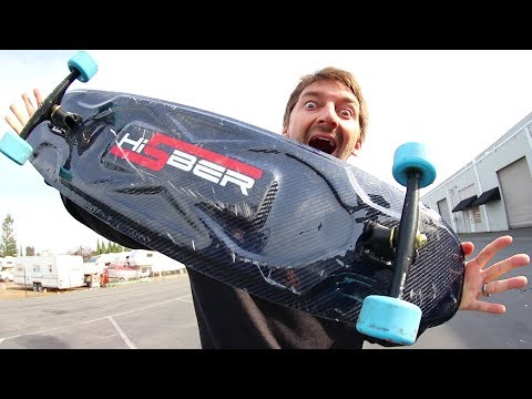 TESTING OUR FIRST CARBON FIBER LONGBOARD!