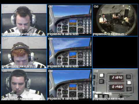 Effects of decompression on pilots. Simulated in the decompression chamber at the Southern AeroMedical Institute, Florida. Recorded Sat April 18th, 2009. Pilots (top to bottom): Wesley...