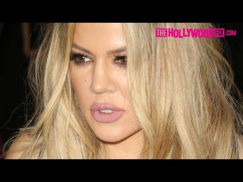 Khloe Kardashian Mobbed By Paparazzi Leaving The Nice Guy Grammy Party 2.15.16