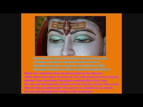 Shiva Mahimna Stotram (with lyrics and translation) part 2 of...