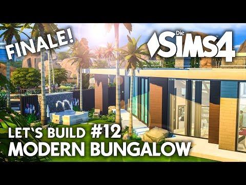 Whirlpool & Garten | Die Sims 4 Haus bauen | Modern Bungalow #12 - Let's Build (deutsch)