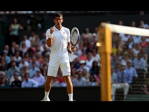 Novak Djokovic on semi-final win at Wimbledon 2013