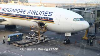 Singapore Airlines Boeing 777-300ER Economy Class - Hong Kong ✈ Singapore (SQ001)