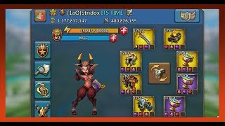 My Brand New 1 BILLION MIGHT Account Lords Mobile