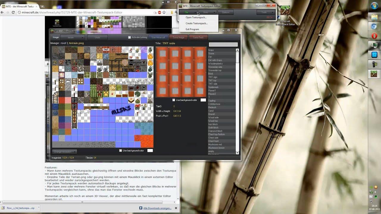 как пользоваться программой minecraft texturepack editor #3