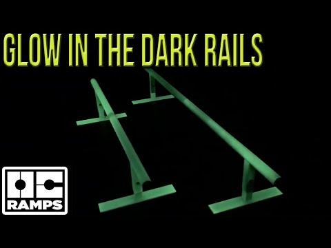 Glow in the Dark skateboard rails!  Skate in the dark!