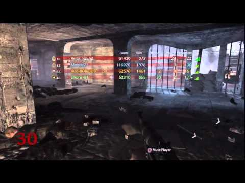 World at War Nacht Der Untoten Round 30+ w/ 4 players - Call of Duty Nazi Zombies