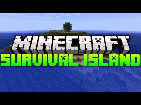 Minecraft Best Seeds - SURVIVAL ISLAND WITH 2 MOB SPAWNERS | 1.7.4 (HD)