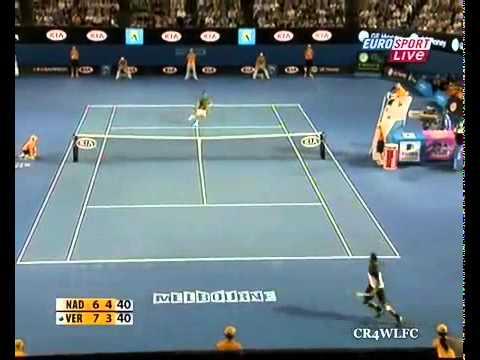 Mejor Partido De Tenis Del 2009 Rafael Nadal Vs Fernando Verdasco Semifinal Australian Open 2009HQ
