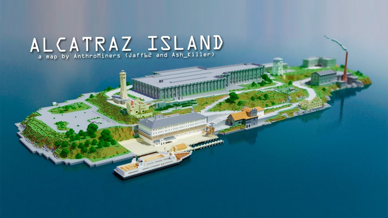 Alcatraz Island The Rock Minecraft Edition Youtube