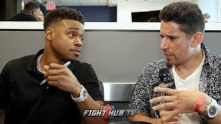 """ERROL SPENCE """"NO ONES AVOIDING CRAWFORD! IMA GET THESE BELTS HERE & TAKE CRAWFORDS BELT"""""""