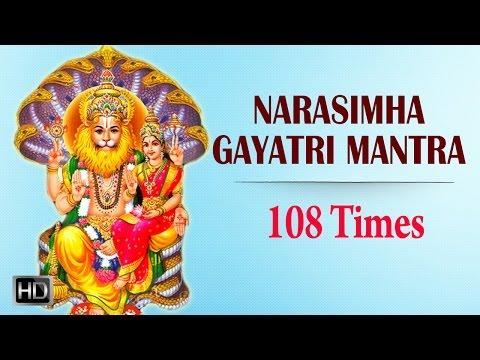 Narasimha Gayatri Mantra - 108 Times Chanting with Lyrics - Powerful Mantra for Peace