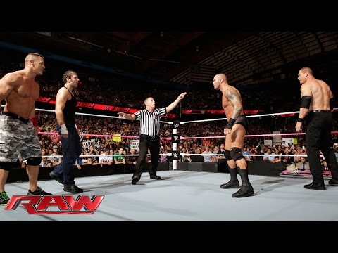 John Cena & Dean Ambrose Vs. Randy Orton & Kane: Raw, Sept. 29, 2014 video
