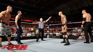 John Cena & Dean Ambrose vs. Randy Orton & Kane: Raw, Sept. 29, 2014