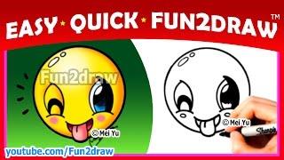 How to Draw An Emoji Easy + Cute - Fun2draw