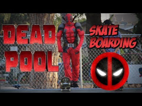 DEADPOOL SKATEBOARDING !!! HALLOWEEN EDIT