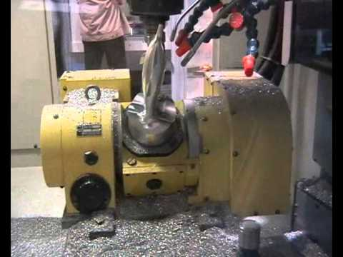 Dolphin: 5-axis simultaneous milling on FANUC Robodrill with 5-axis NIKKEN table