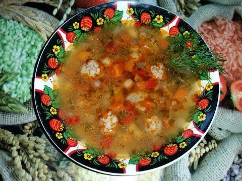 Приготовление томатного супа с фрикадельками и нутом