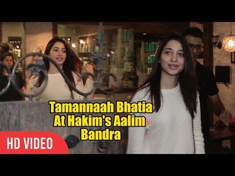 Tamannaah Bhatia Spotted At Hakim's Aalim Bandra | Baahubali Actress Tamannaah thumbnail