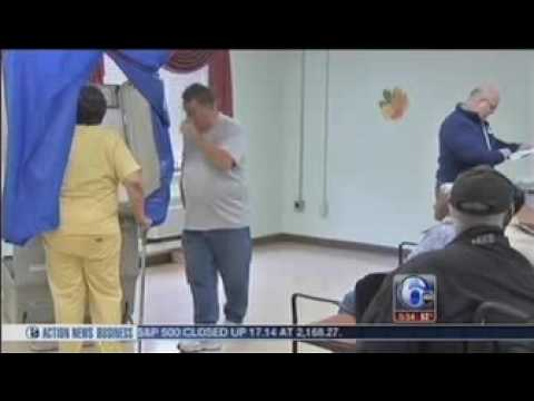 Mercy LIFE - West Philadelphia members try out voter booths