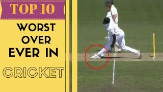 Top 10 - Worst over ever bowled in cricket History   SC