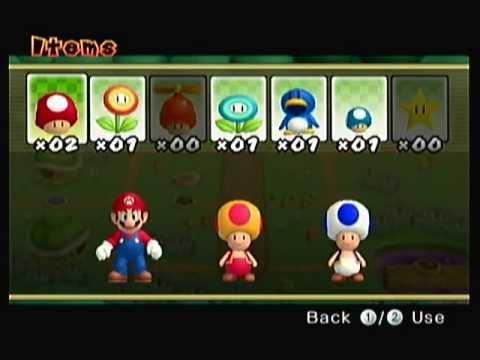 Super Mario Bros Blue Toad New Super Mario Bros Wii Part