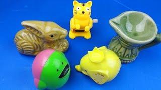 Happy Cute Zoo Animals Tiger   Animal Planet Mega Tiger Raptpr   Kids Videos   Rafi Toys Time