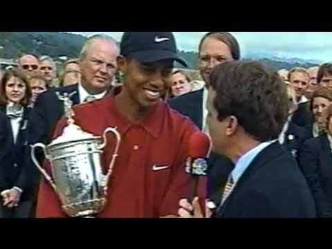 Tiger Woods US Open 2000 Part 6/6 + News Conferences