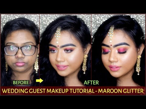 WEDDING GUEST MAKEUP TUTORIAL STEP BY STEP | INDIA