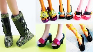 DIY:  Doll Shoes, Heels, Ballet Shoes, Ballet Shoes - With Hot Glue