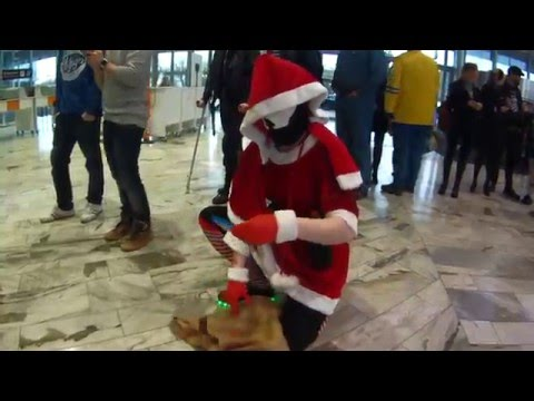 Santa Sith giving out presents at Sci Fi World Stockholm 2015
