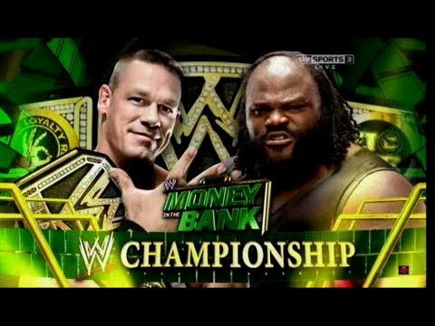 WWE Money In The Bank 2013 Johncena Vs Mark Henry (WWE Championship) HD