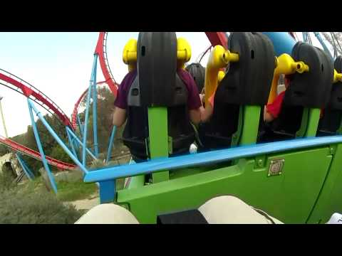 Port Aventura Dragon Khan onRide (HD POV)