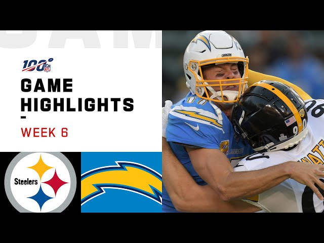 Steelers vs. Chargers Week 6 Highlights | NFL 2019 thumbnail